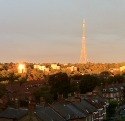 Crystal Palace TV mast in the sun