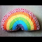 Rainbow cushion