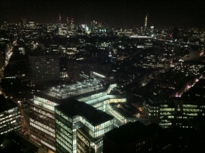 View of London and The Shard from Centrepoint