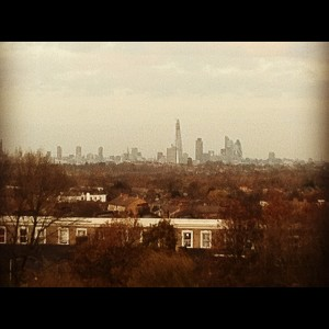 View of London skyline from Crystal Palace