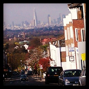 View of London and The Shard from Crystal Palace