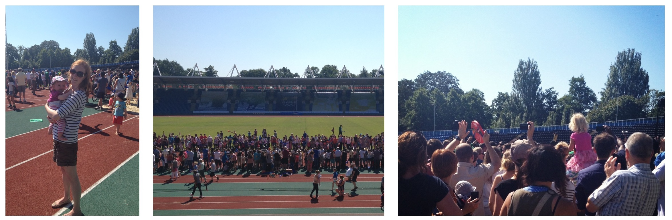 Olympic torch relay in Crystal Palace Athletic Stadium