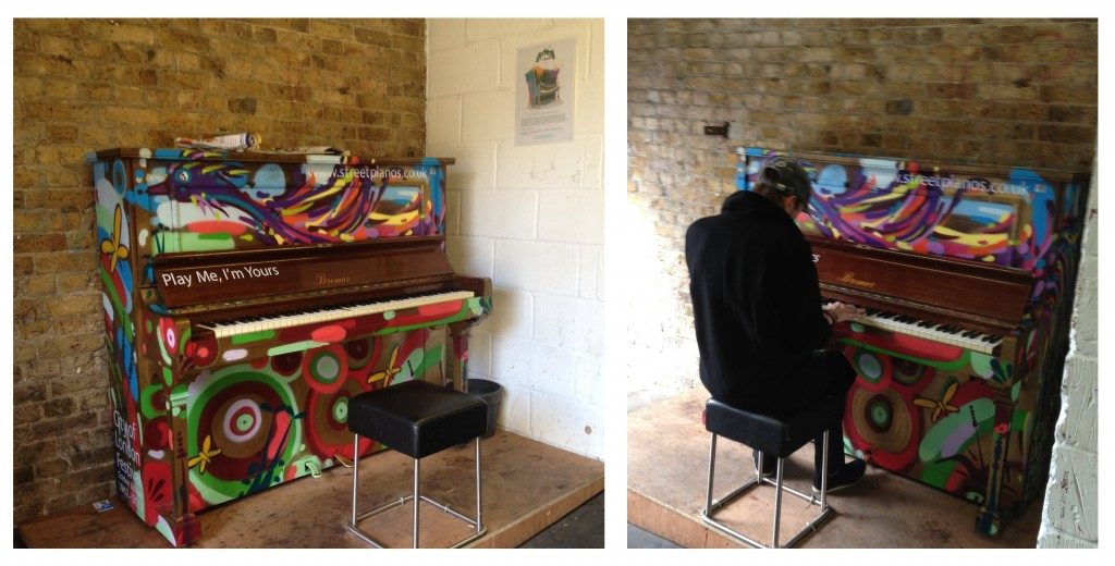 Street piano in Herne Hill train station