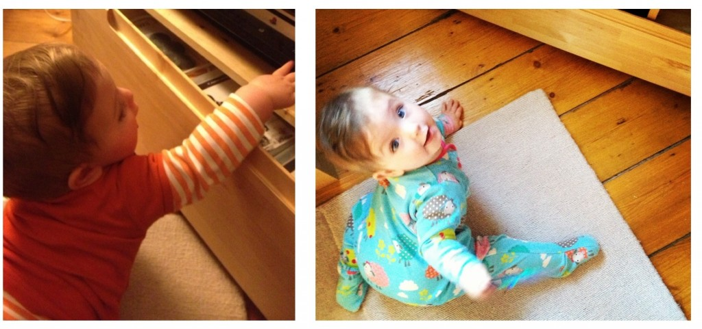 Eliza and the magnetic attraction of the TV unit
