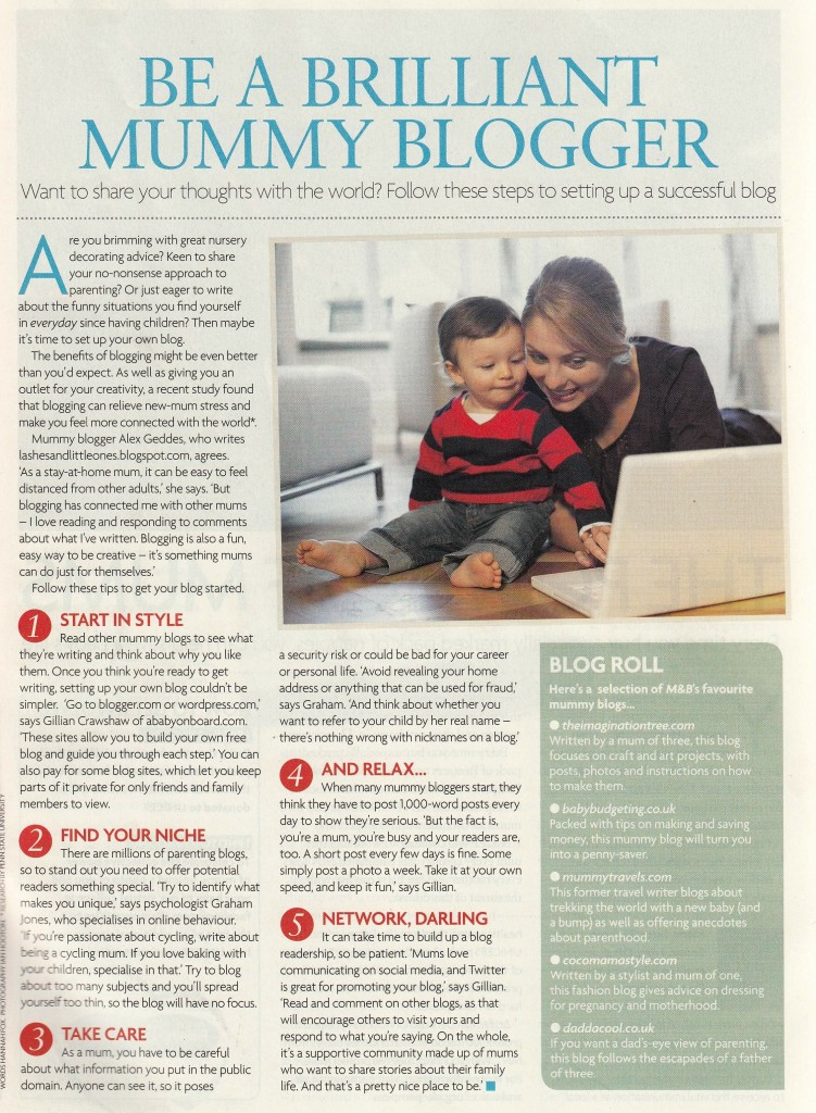 How to be a brilliant mummy blogger