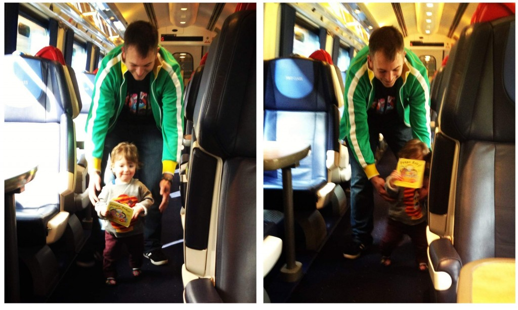 Train travel with a toddler