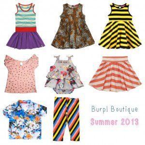 Cool children's summer clothes