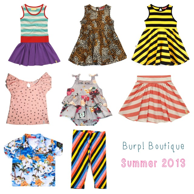 Summer clothes for children, from Burp! Boutique - A Baby ...
