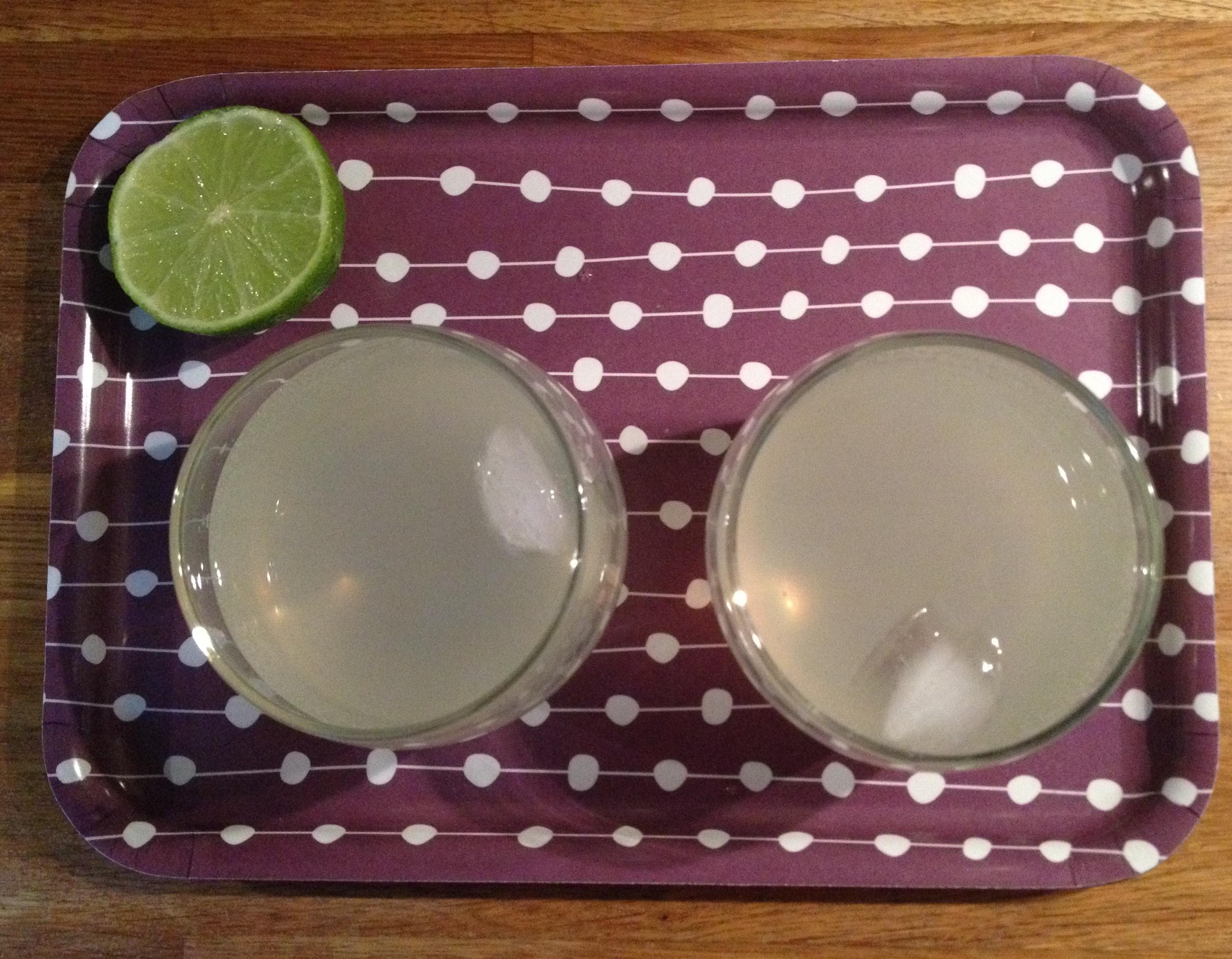 Lemon gin cocktails