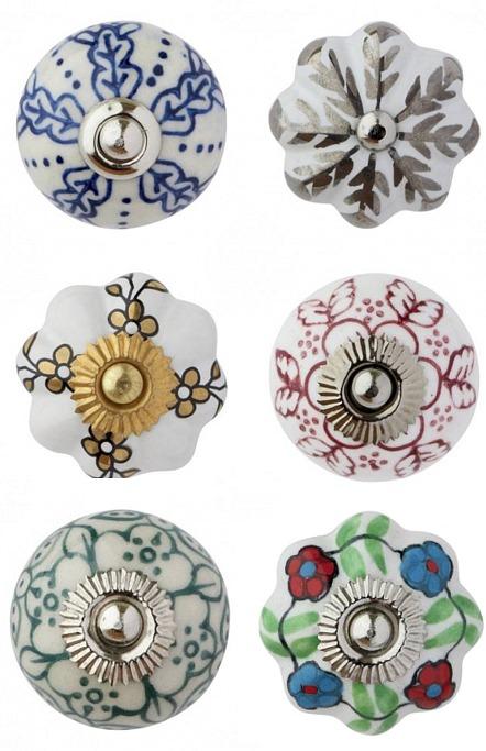 Colourful ceramic door knobs - www.ababyonboard.com