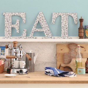 Wooden letter craft project
