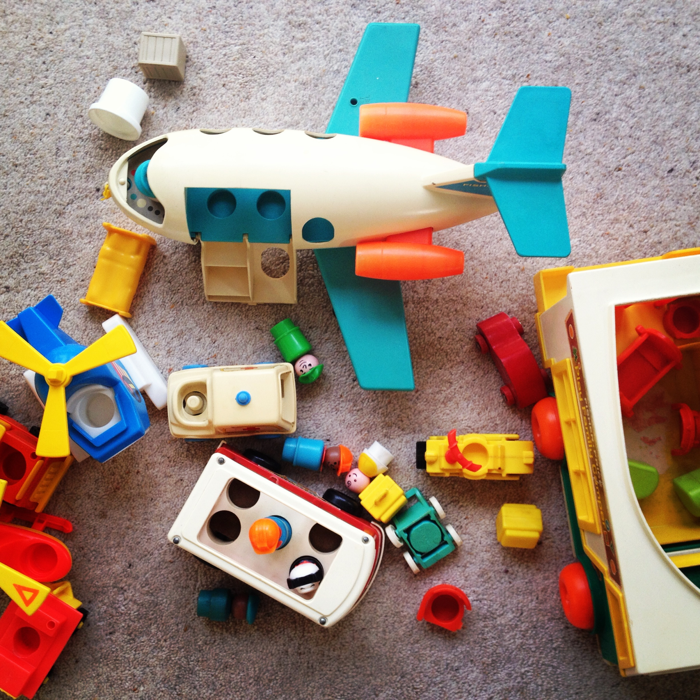 Name your Fisher Price vintage childhood toys