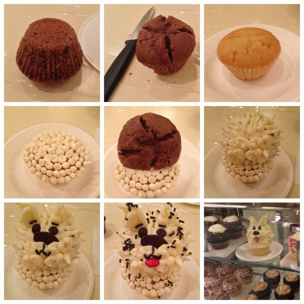 How to make a dog-shaped cupcake