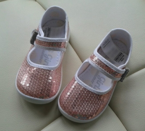 Sequinned toddler shoes