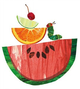 The Very Hungry Caterpillar art for childrens rooms