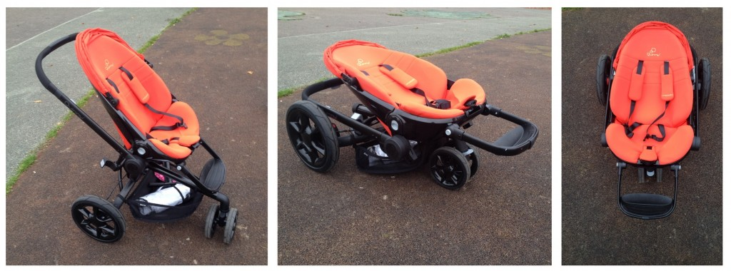Quinny Moodd review - the buggy folded and unfolded