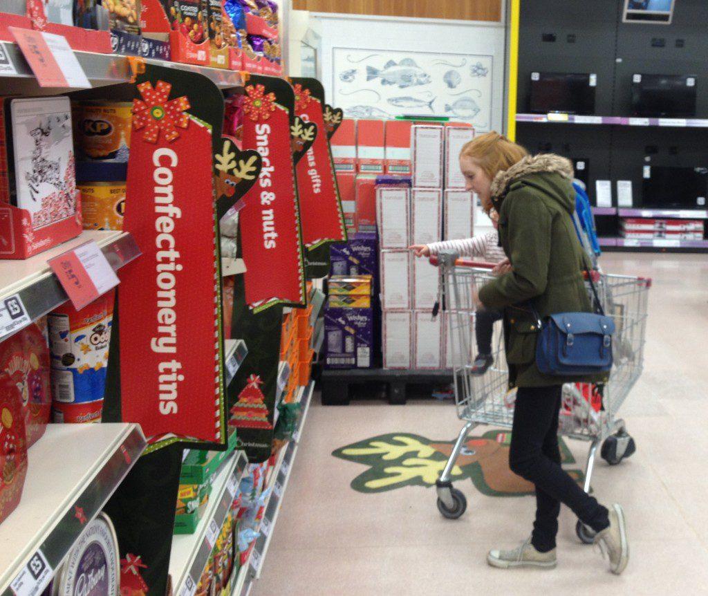 Shopping at Sainsbury's