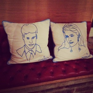 Duke and Duchess of Cambridge cushions
