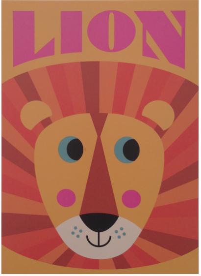 Lion print - Ingela P. Arrhenius