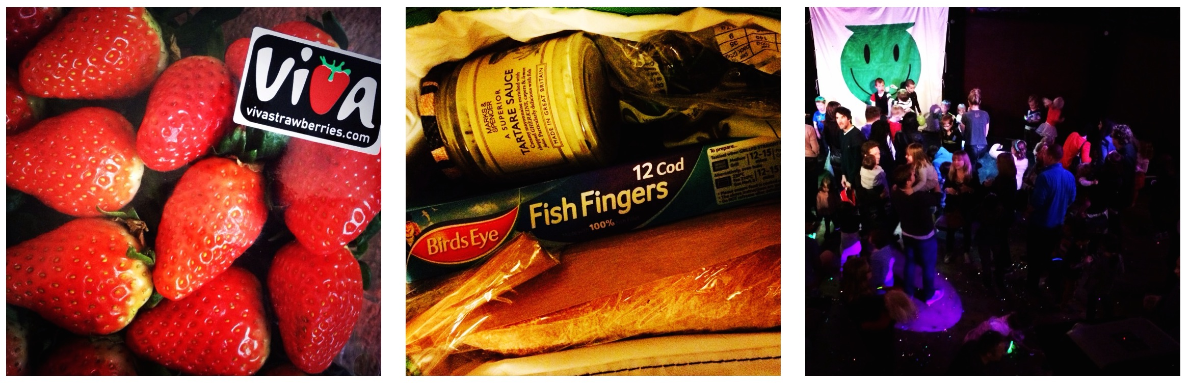 Strawberries, fish fingers, baby raves