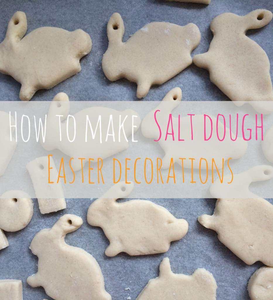 Making Easter salt dough decorations