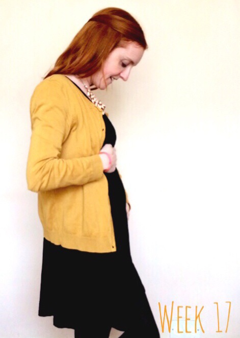 Pregnancy week 17 - an update and bump shot at 17 weeks pregnant. Week-by-week pregnancy diary and update