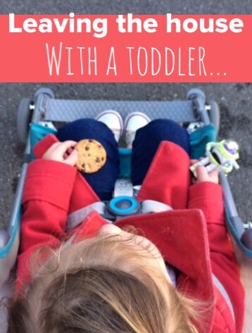 The 25 stages of leaving the house with a toddler, why we're always late