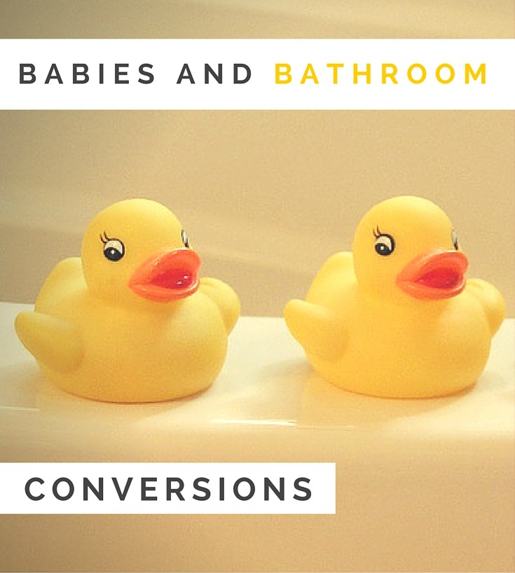 Tips on getting building work and bathroom conversions done when you have babies - read more on www.ababyonboard.com