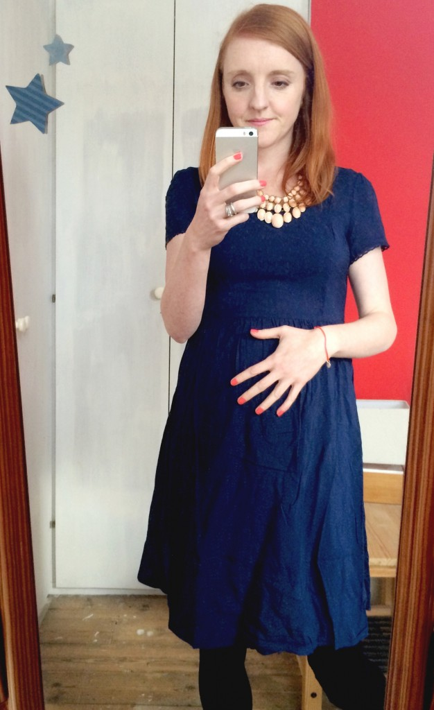 New Look maternity dresses - maternity skater dress - cheap stylish maternity clothes