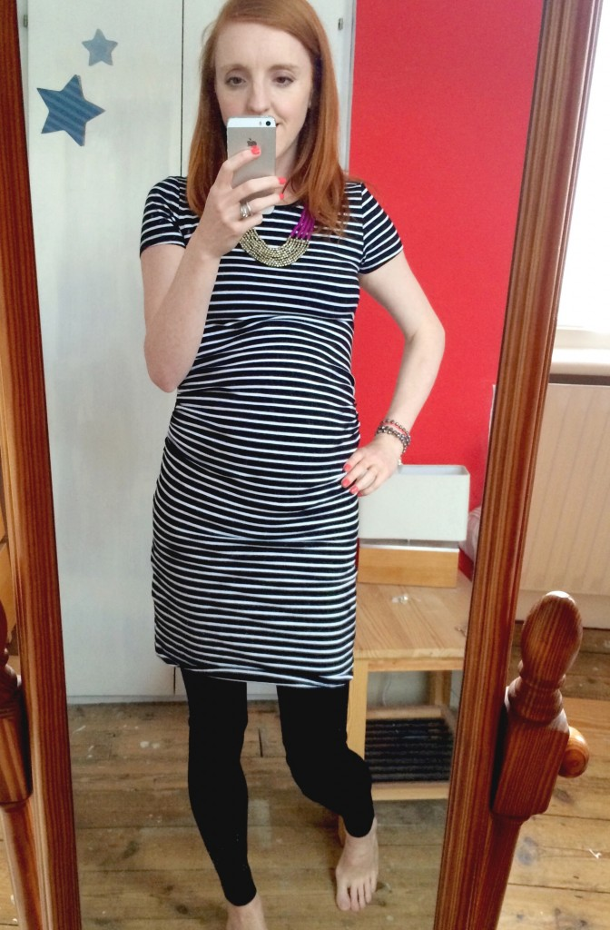 Stripey New Look maternity dress - I try maternity clothes New Look