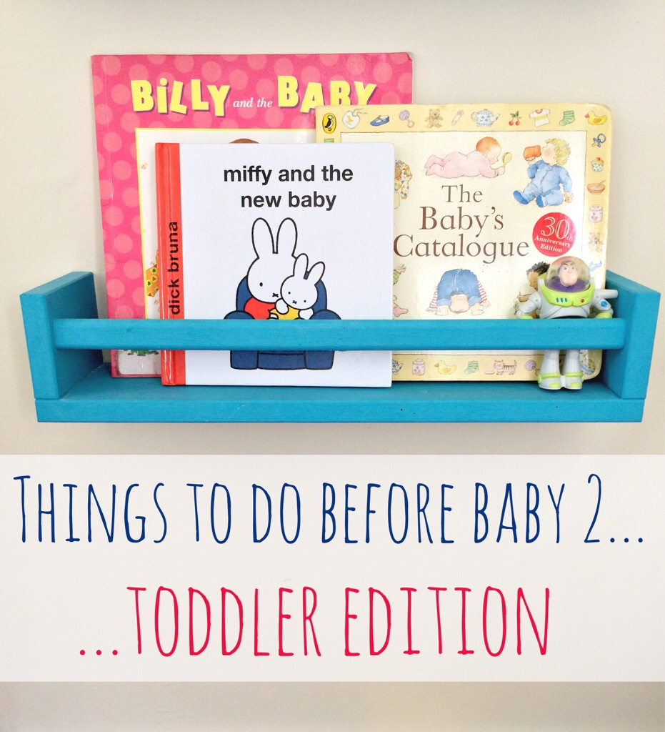 Activities to do with your toddler before a second baby arrives