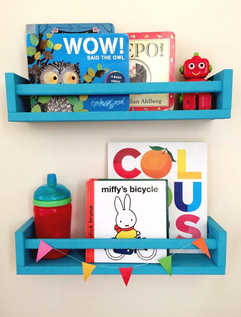 Ikea bekvam as colourful childrens bookshelves 777x1024