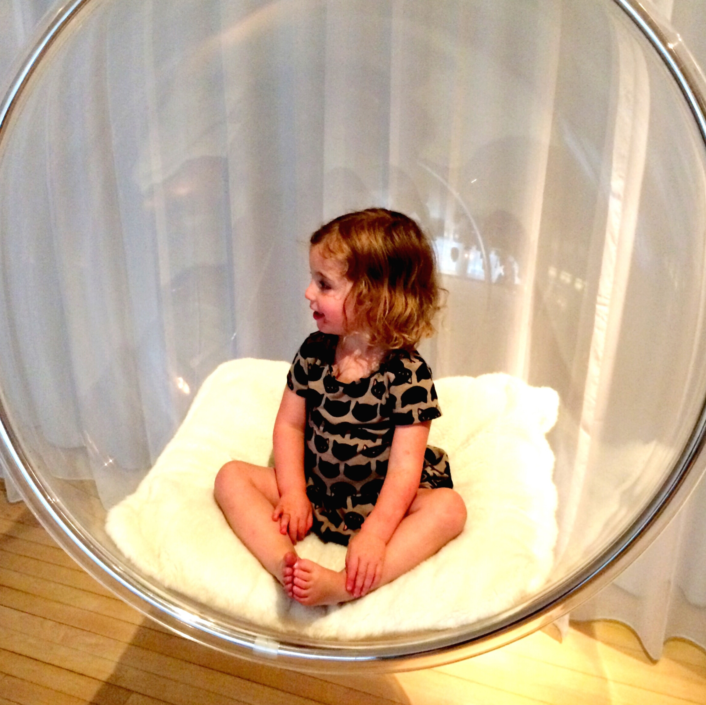 Bubble chair at The Sanderson Hotel