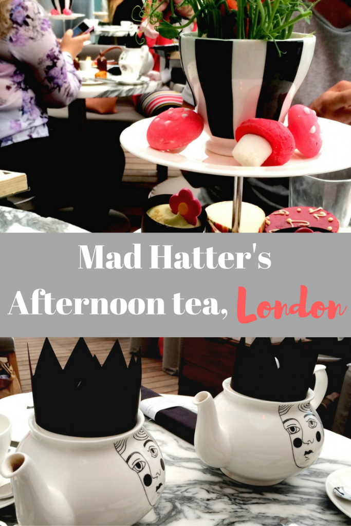 Mad Hatter's afternoon tea at the Sanderson Hotel, London - the best place to have afternoon tea in London? Find out about this traditional afternoon tea with a modern twist!