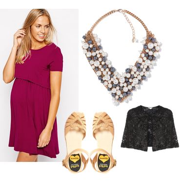 Christmas party outfit for breastfeeding