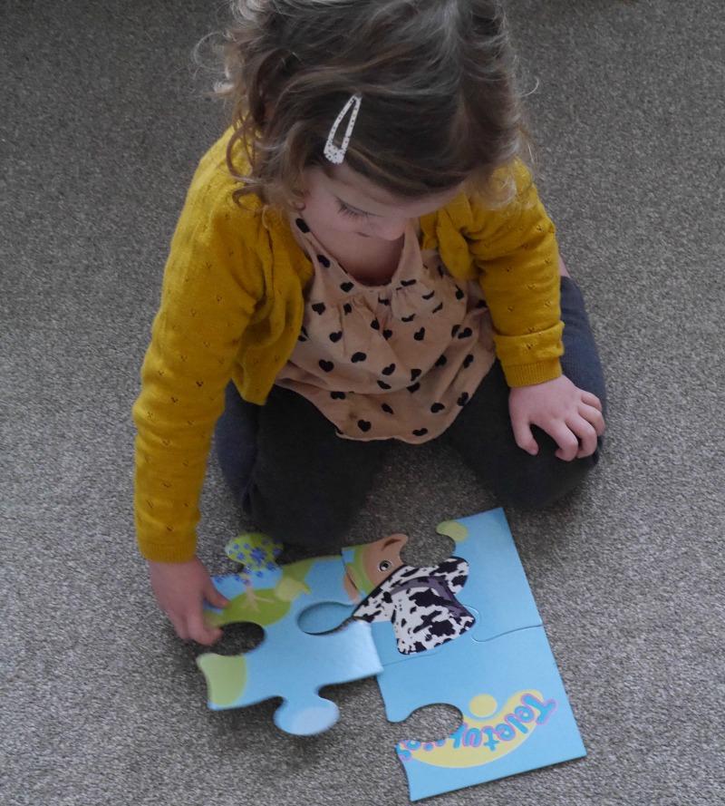 Toddler floor jigsaw