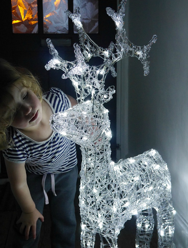 Light-up Christmas reindeer