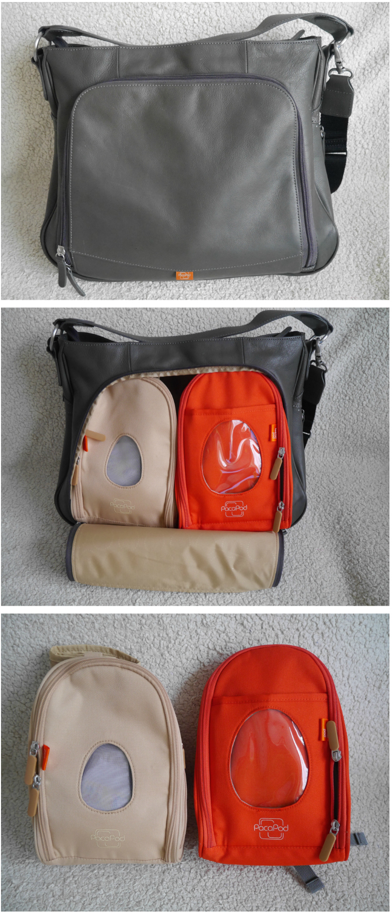 Pacapod sydney change bag with pods