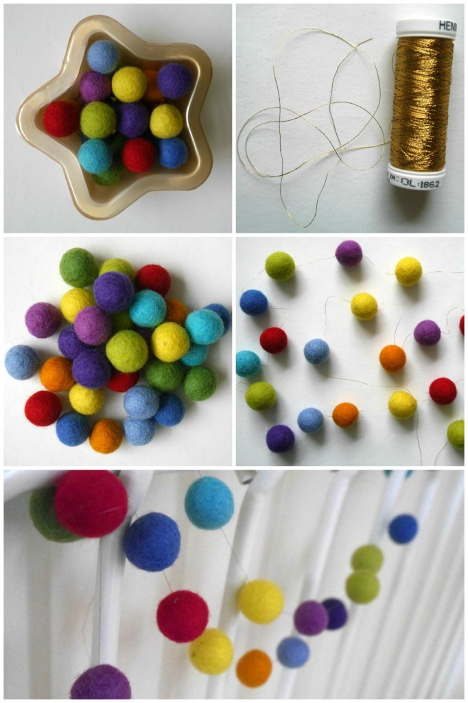 How to make a really easy felt ball garland
