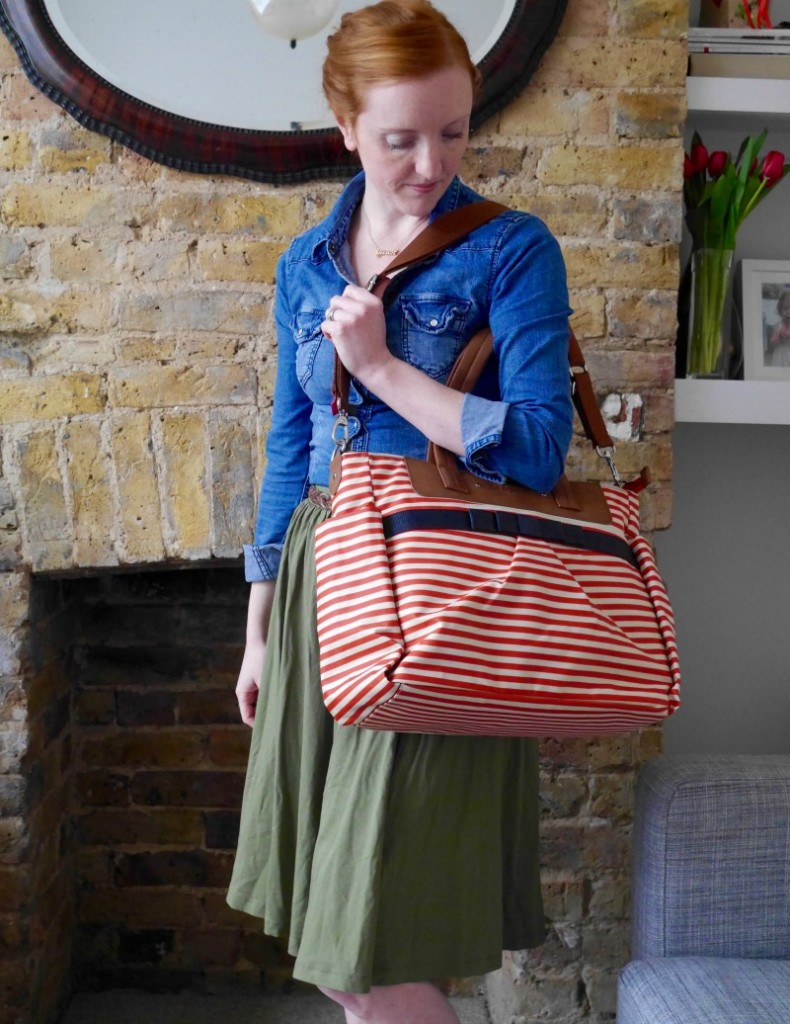 Babymel Cara baby bag review - red stripe