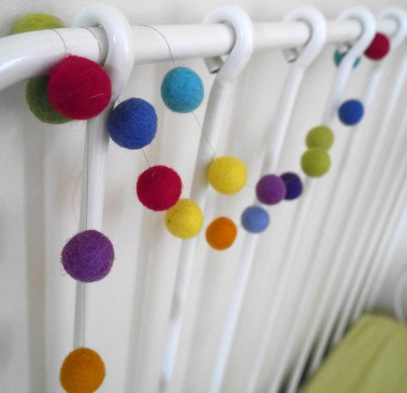 Making an easy felt ball garland - how to make a felt ball garland
