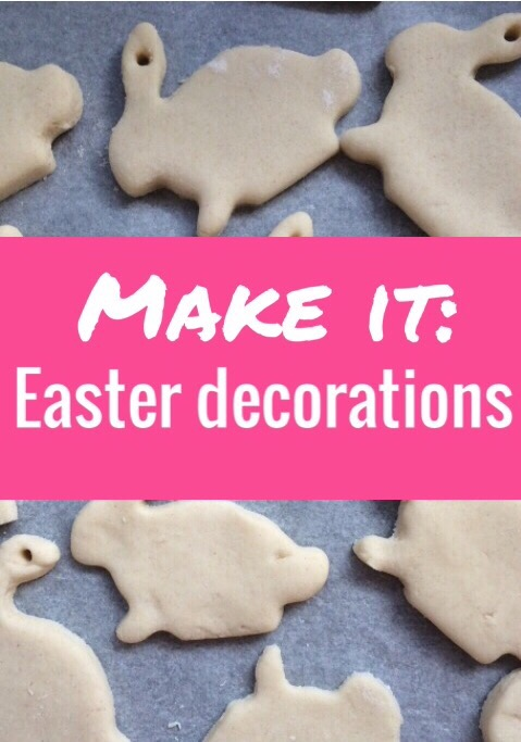 How to make really easy  Easter salt dough decorations - perfect easy craft to do with toddlers and small children