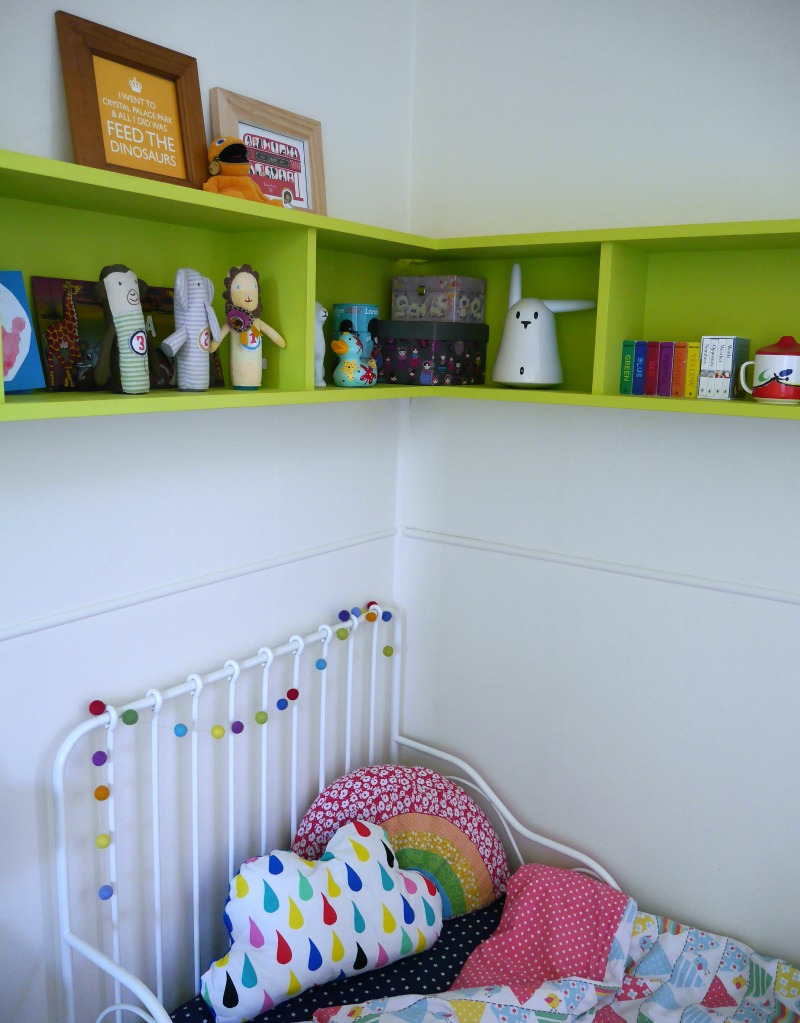 Colourful toddler room tour