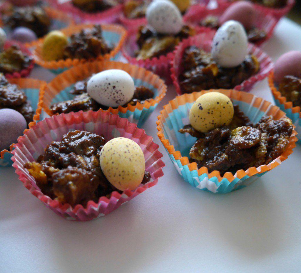 Easter nest cakes