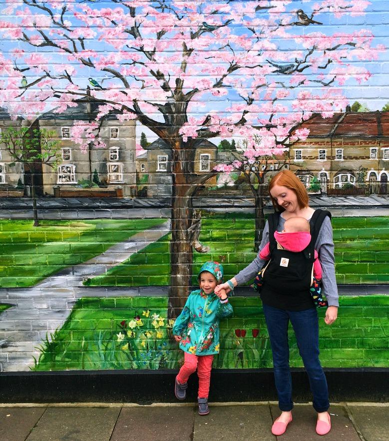 Painted wall art, London