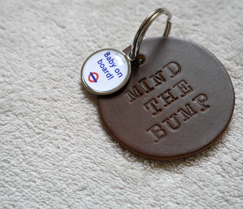 Baby on Board badge keyring from Not on the High Street