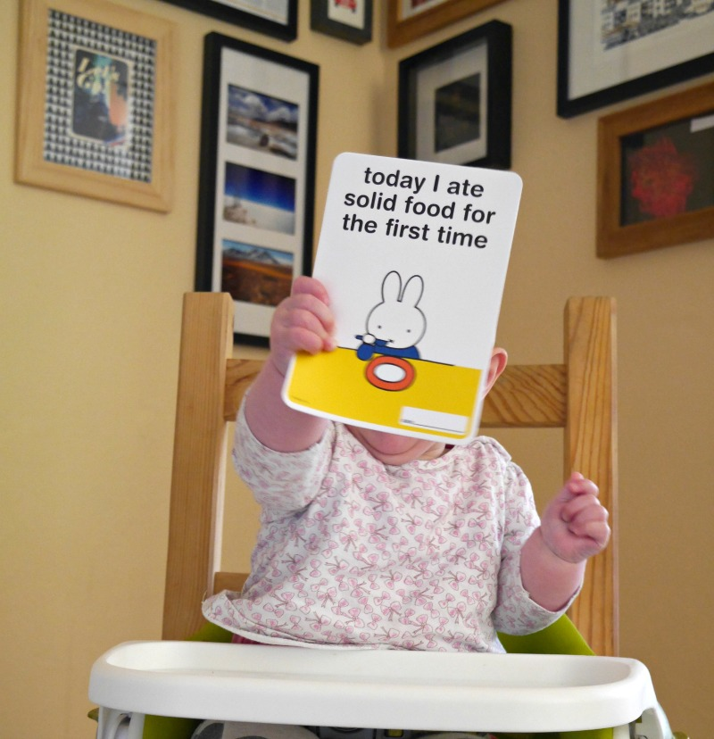 Baby weaning baby milestone cards
