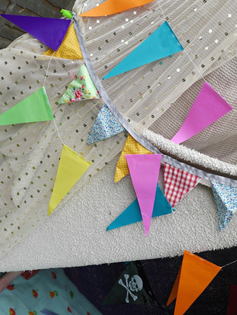 Bunting and flags
