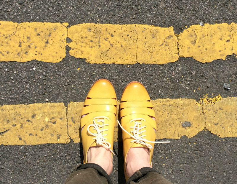 Clarks shoes mustard brogues