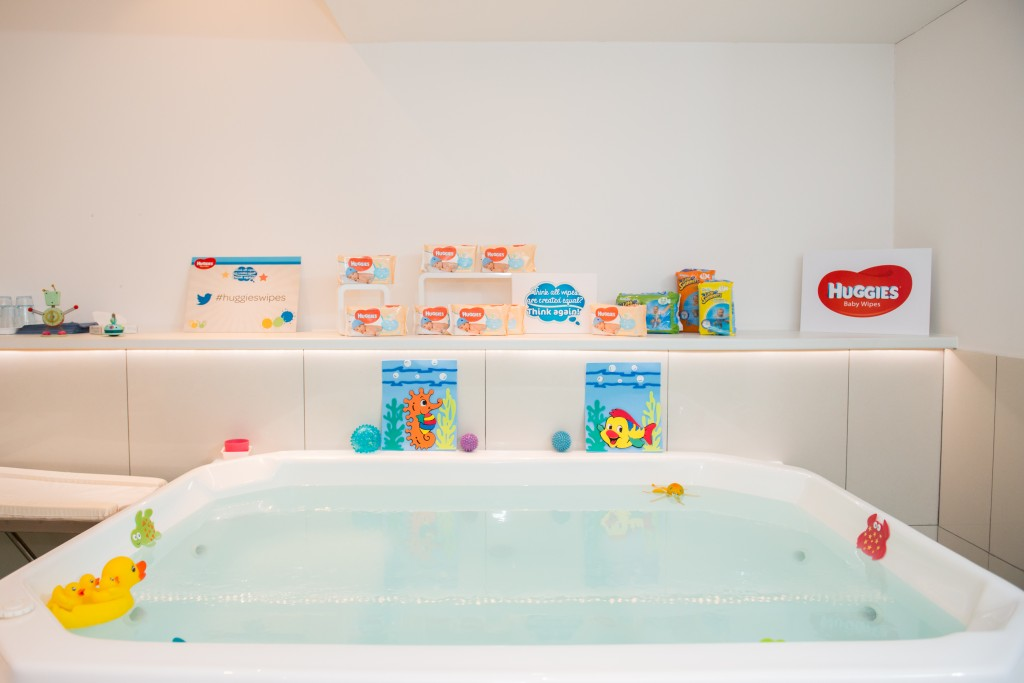 Baby spa with Huggies
